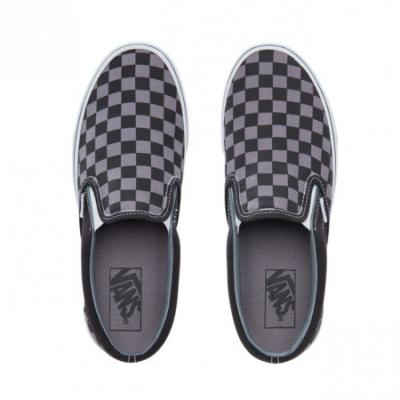 Vans - Classic Slip-on (Checkerboard) Black / Pewter Ayakkabı