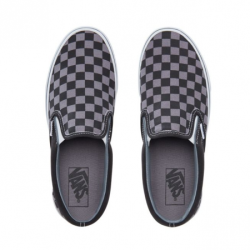 Vans - Vans - Classic Slip-on (Checkerboard) Black / Pewter Ayakkabı (1)