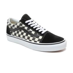 Vans - UA Old Skool Blur Check Black / Classic White Ayakkabı - Thumbnail