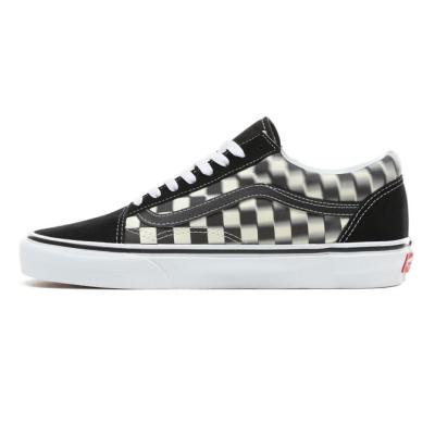 Vans - Vans - UA Old Skool Blur Check Black / Classic White Ayakkabı