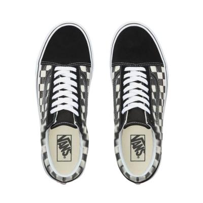 Vans - UA Old Skool Blur Check Black / Classic White Ayakkabı
