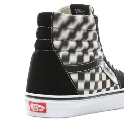 Vans - SK8-Hi Blur Check Black / Classic White Ayakkabı