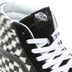 Vans - SK8-Hi Blur Check Black / Classic White Ayakkabı - Thumbnail