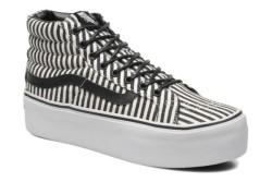 Vans - Vans - Sk8 Hi Platform Hickory Stripes Black Ayakkabı