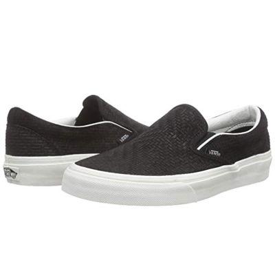 Vans - Classic Slip-On (Braided Suede) Black Ayakkabı