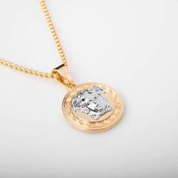 Versace Silver & Gold Kolye - Thumbnail
