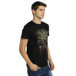 Bant Giyim - Wish Tree Siyah T-shirt - Thumbnail
