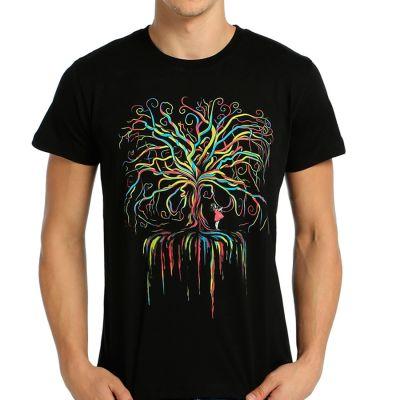 Bant Giyim - Wish Tree Siyah T-shirt
