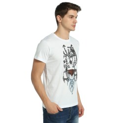 Bant Giyim - Wolf Girl Dreamcatcher Beyaz T-shirt - Thumbnail