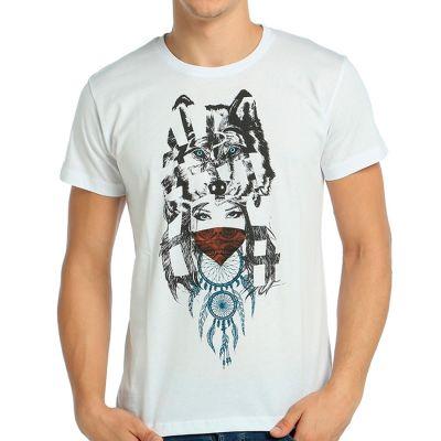 Bant Giyim - Wolf Girl Dreamcatcher Beyaz T-shirt