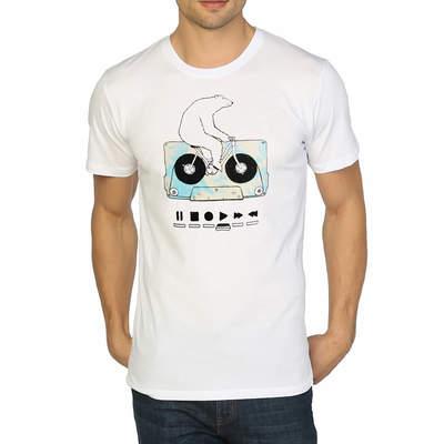 Bant Giyim - Work Hard Play Hard Beyaz T-shirt