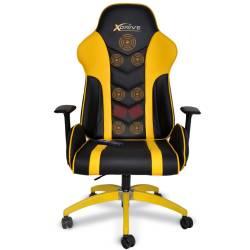 xDrive - MASAJLI ATAK Profesyonel Oyun |Oyuncu Koltuğu Sarı/Siyah - Thumbnail