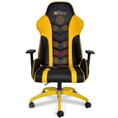 xDrive - MASAJLI ATAK Profesyonel Oyun |Oyuncu Koltuğu Sarı/Siyah