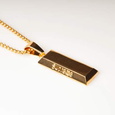 Külçe Altın Büyük Gold Kolye