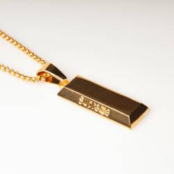 HollyHood - Külçe Altın Büyük Gold Kolye