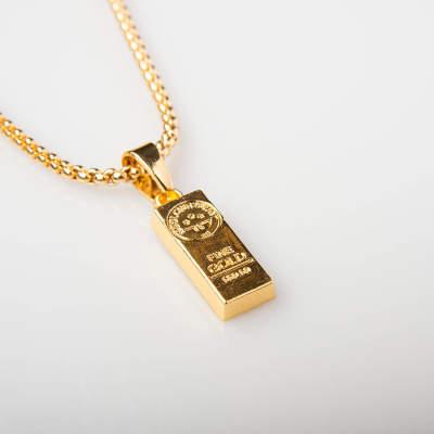 Külçe Altın Küçük Gold Kolye