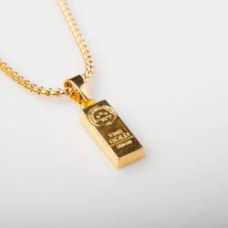HollyHood - Külçe Altın Küçük Gold Kolye